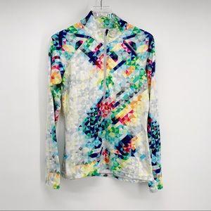 Athleta Multicolor Half Zip Pullover Size S